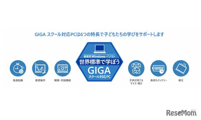 GIGAスクール対応PCの特長