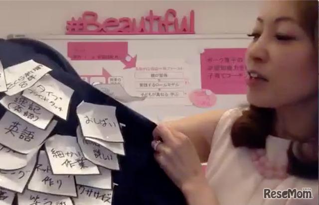 ボーク重子さんの「ポジティブジャケット」(オンライン取材映像より)