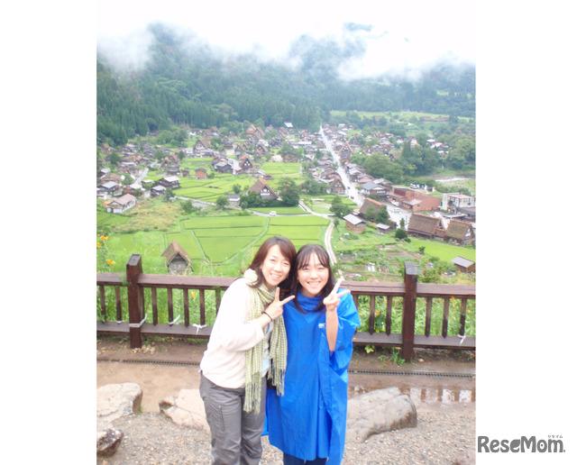 2011年「エコ×エネ体験ツアー水力編 御母衣 小学生親子ツアー」に参加した当時の大石さん親子