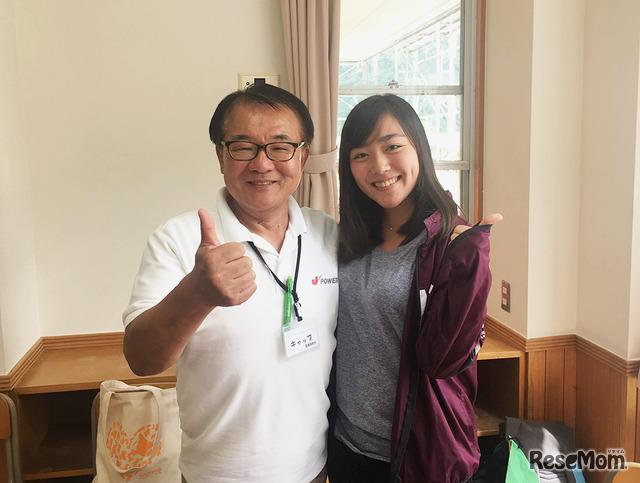 2018年「エコ×エネ体験ツアー水力編 奥只見 学生ツアー」で再会した藤木さんと大石さん