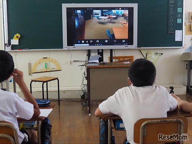 日本マイクロソフトの協力で実施した社会見学