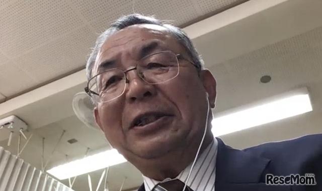 オンラインインタビューに応じてくださったLINE entry監修者の倉澤昭先生