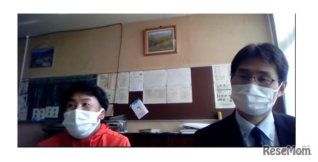 小木曽先生(英語)と柴田先生(数学)