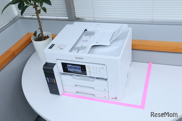 コンパクトになった「PX-M6711FT」。ピンクのテープ外側が「PX-M5081F」のサイズ