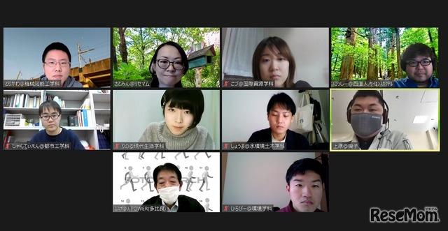 磯子発電所の若手社員とのオンライン交流