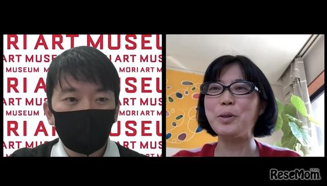 取材に応じてくれたprecog・中村茜氏(右)と森美術館・白木栄世氏