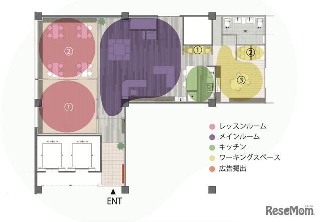 ウィズダムアカデミー ららぽーとTOKYO-BAY 船橋校の空間配置