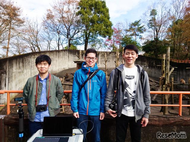 写真左から杉晃太朗さん、佐藤俊太朗さん、畠中義基さん