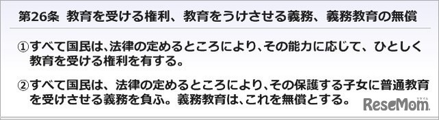 日本国憲法26条