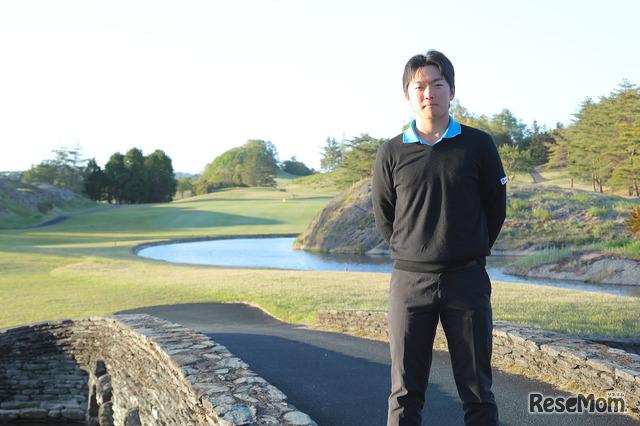 ルネサンス高校ゴルフ部主将の三浦隆治選手