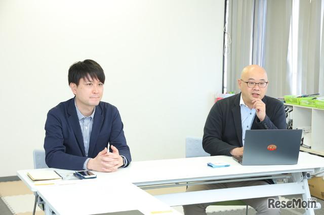 インタビューに答える勝又氏と北川氏