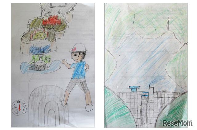 子供たちの思い出のイラストがエコ×エネ体験ツアーの楽しさと学びの深さを証明!