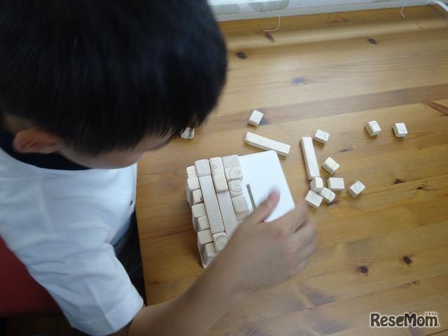 箱の大きさにあわせながら、木材のレイアウトを考える