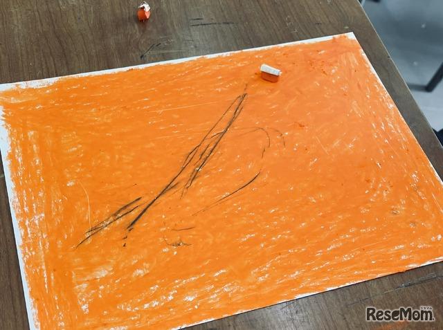 「自由に絵を描く」というテーマで高校生が作成したアート