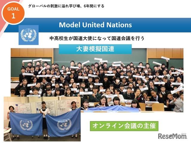 大妻中学高等学校の模擬国連の取組み
