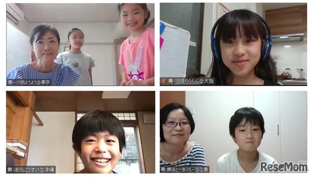インタビューに答えてくれた、ようようさん親子(左上)、りららんさん(右上)、こうすけさん(左下)、とーきっちーくん親子(右下)