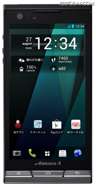 Android 4.0搭載「ARROWS A(エース) SoftBank 101F」