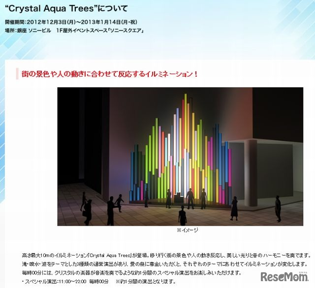 「Crystal Aqua Trees」について